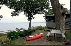 "Moorings RV Resort, Belfast, Maine. 191 Searsport Avenue, Belfast, Maine 04915 - $66/night for a pull-thru site (50 amp, water, sewer, cable, wifi). Five miles from Penobscot Marine Museum in Searsport and two miles from Moose Point State Park with hiking trails and gorgeous views. The park organizes pot lucks, lobster dinners, and free wine and beer during Friday Happy Hours. A few miles from Belfast (voted one of the ""top ten culturally cool US towns"" by USA Today). 20 miles from Camden."