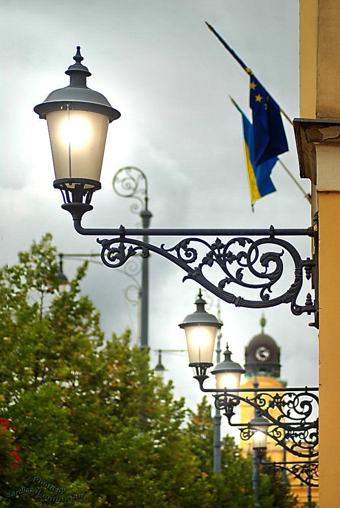 Lamps Church tower - Debrecen
