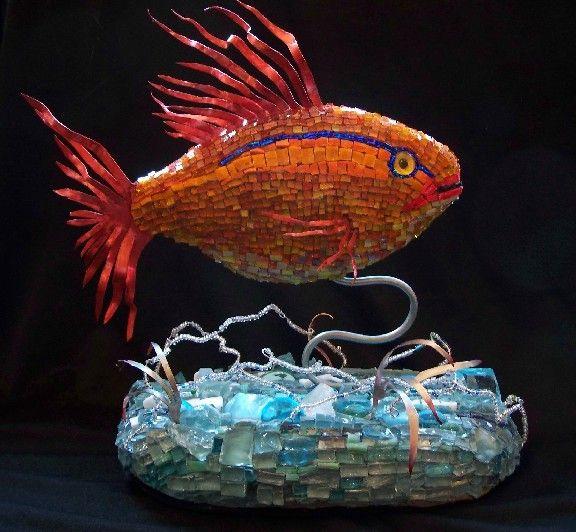 georgeous goldfish mosaic