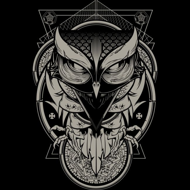 Alchemy Owl T-Shirt Designed by