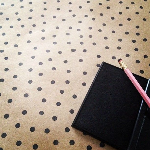 DIY Polka Dot Wrapping Paper (using a standard pencil eraser!) so doing
