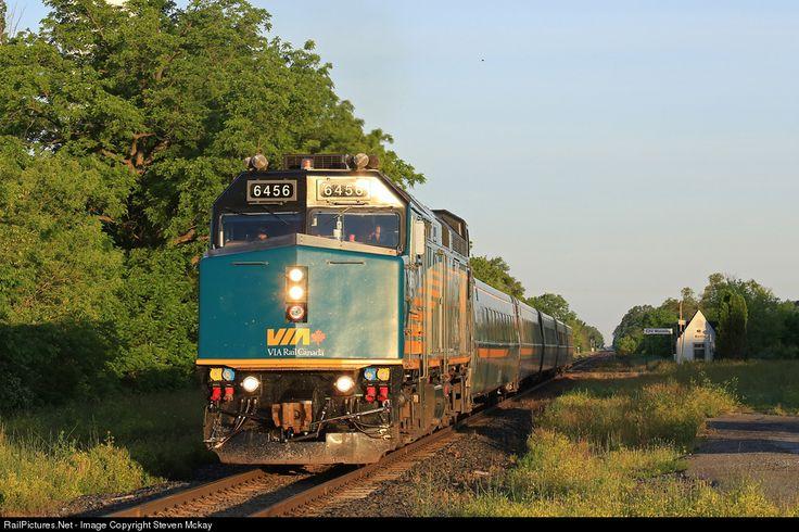 RailPictures.Net Photo: VIA 6456 VIA Rail EMD F40PH-3 at Wyoming, Ontario, Canada by Steven Mckay