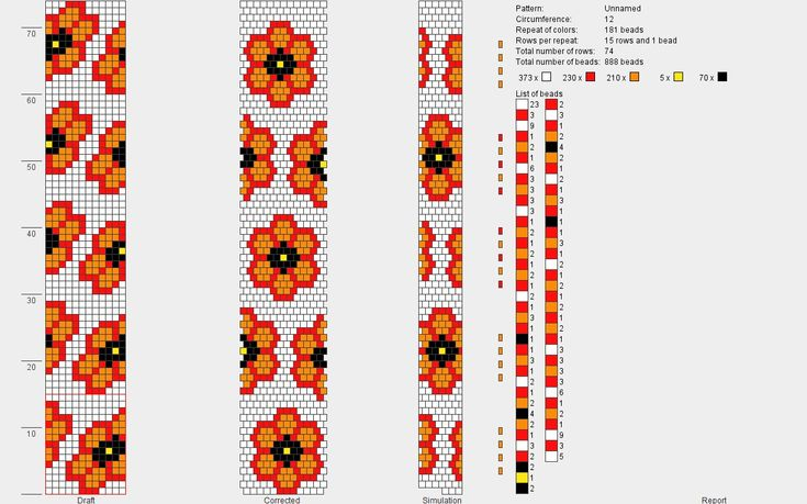 Schema for bead crochet, 12 around. #Seed #Bead #Tutorials