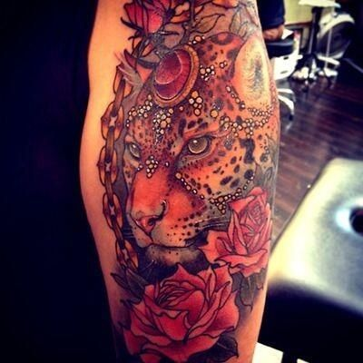 Leopard tattoo. Soooo beautiful | $Inked up$ | Pinterest ...