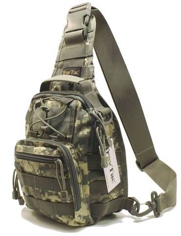 TravTac Stage I Sling Bag, Premium Small EDC Tactical Sling Pack 900D