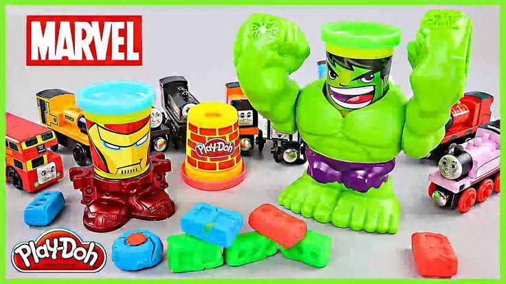 Hulk Play Doh Plastilina Golpe Destructiva Aprende los Colores  Hulk en ...