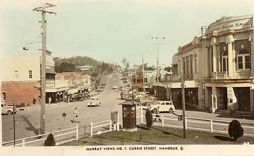 Currie Street, Nambour, looking south from Station Square, 1940s [picture]