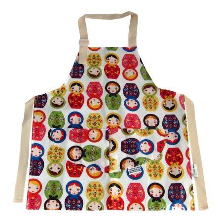 Babushka doll kids' apron -for my girl