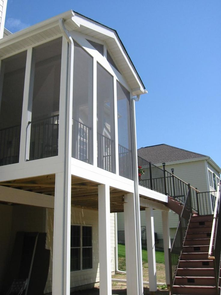 68 best second story deck ideas images on pinterest for How to build a 2nd story deck