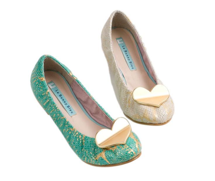 Heart lizard Ballet Flats... add a little love to your flats! By @Le Bunny Bleu
