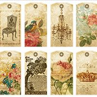 175 best put it in print images on pinterest printables arabesque free printable romantic gift tags collage sheet vintage free printable tag negle Image collections