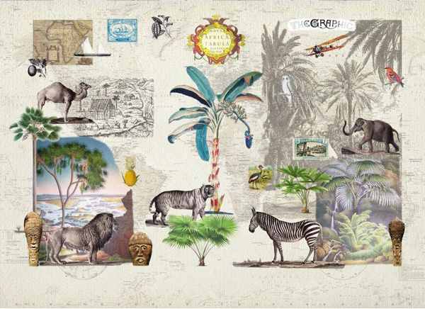 """""""Afrique"""" from Room 7 Travel Memories Collection at LAVTHEM.cz"""