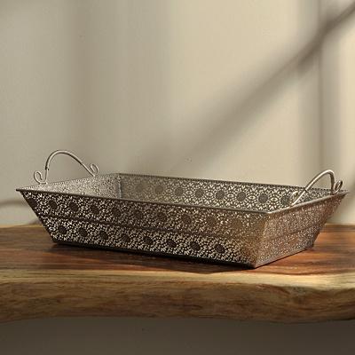 Silver Cutwork Tray