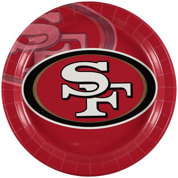 San Francisco 49ers 8-Pack Dinner Plates - $3.99