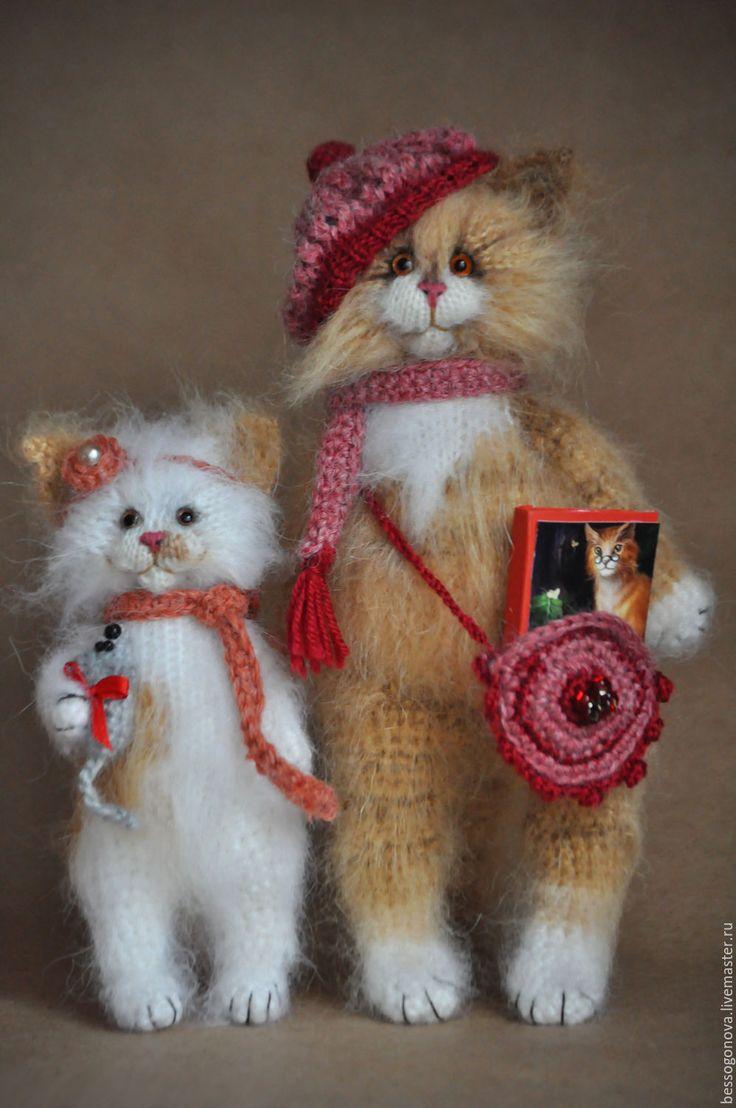 Купить ДОЧКИ-МАТЕРИ вязаные кошки - кошка, котенок, игрушка кот, Игрушка кошка