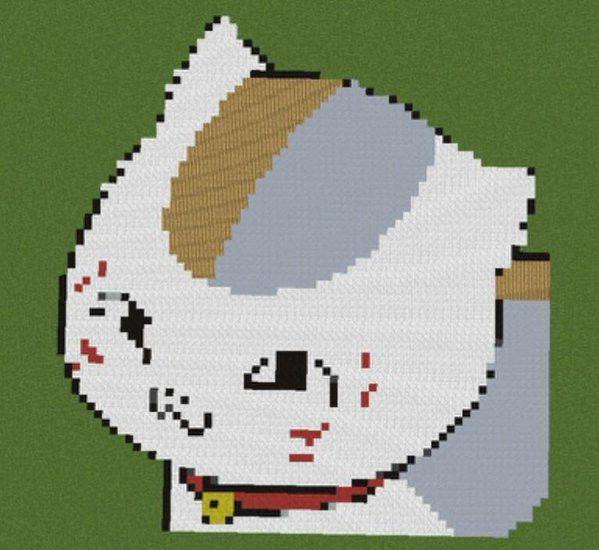 マインクラフト ニャンコ先生ドット絵 / めいむ さんのイラストには「キャラクター」のタグがついています。