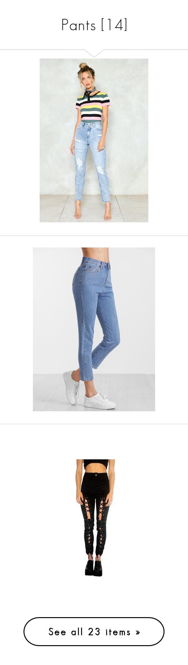 """""""Pants [14]"""" by gdavilla ❤ liked on Polyvore featuring jeans, blue, blue high waisted jeans, blue denim jeans, high waisted distressed jeans, high waisted light wash jeans, high waisted jeans, high waisted denim jeans, cropped denim jeans and highwaist jeans"""