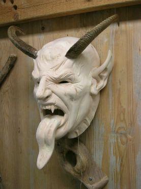 Krampus mask. #Krampus #CreepyChristmas http://www.zazzle.com/collections/christmas-119611065915392212