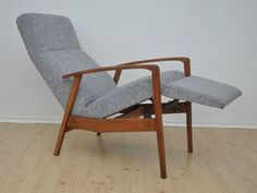 Vintage DANISH Recliner Armchair Design NEW by LoftMeShop on Etsy