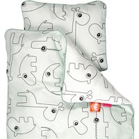 DONE BY DEER Beddengoed Baby Contour, blauw