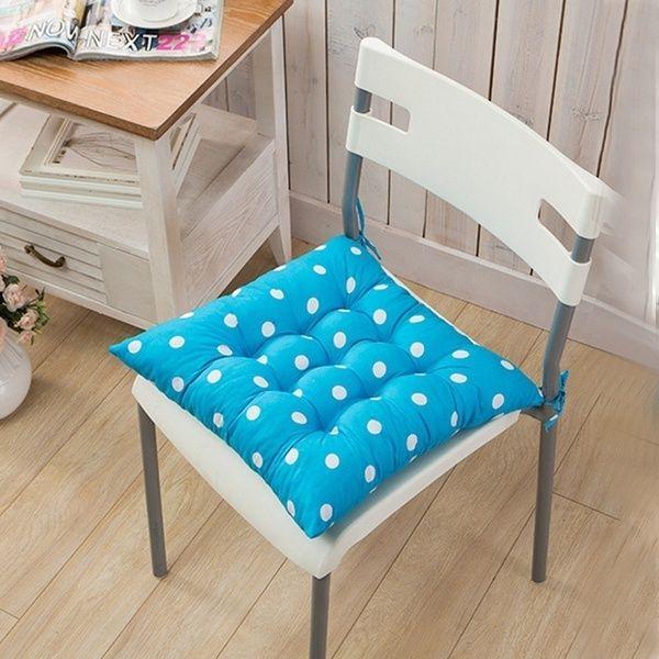 New Design Soft Dot Spot Cotton Seat Pad Garden Indoor Chair Solid Cushion Pad Dinner Chair Cushion Mat Wish Di 2020