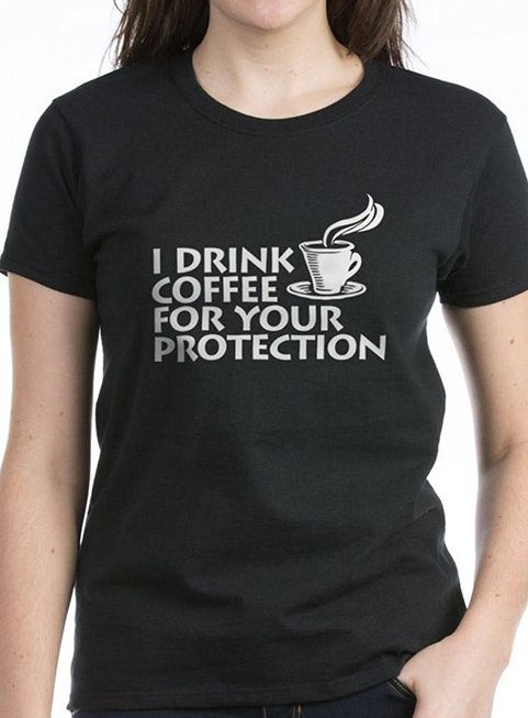 Black 'For Your Protection' Tee