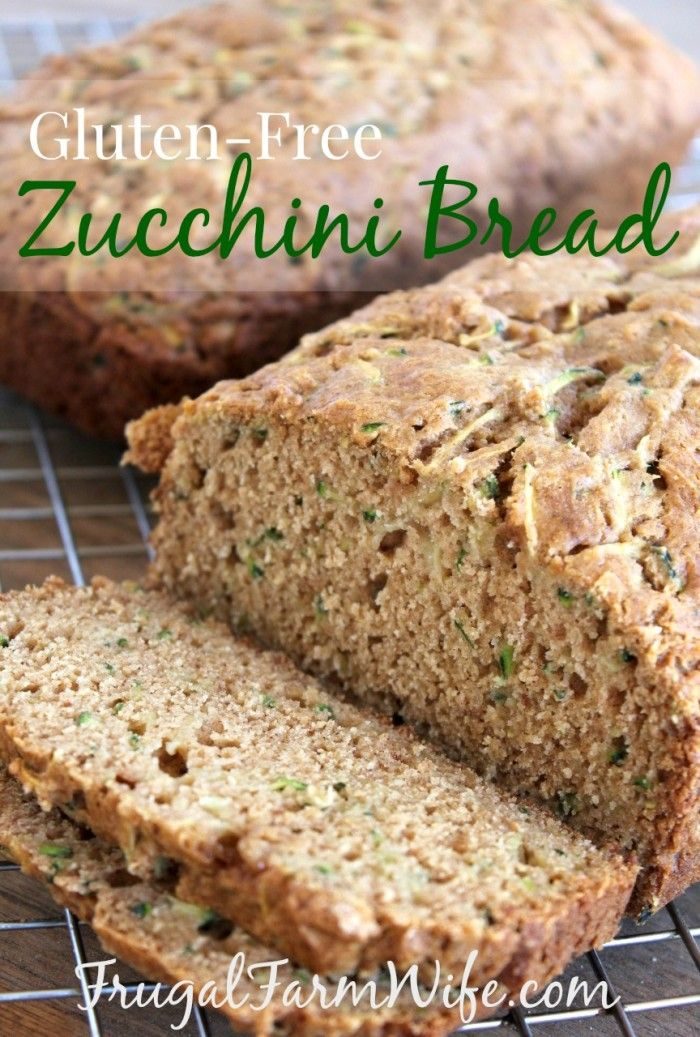 Gluten-Free Zucchini Bread Recipe. This is the BEST recipe ever! It uses half the normal amount of sugar, and is still soft and moist - incredible!