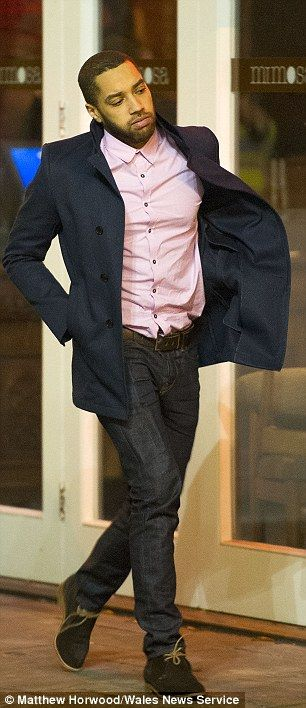 And the coats came off: Jenna Coleman stepped into the cold to film a scene from forthcoming episode eight, while former Emmerdale actor Samuel Anderson was seen arriving on set in a pink shirt