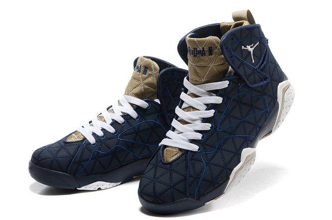 Get Nice Goedkope Nike Air Jordan 7 Retro Basketbal Schoenen Blauw Wit met Gratis Verzending