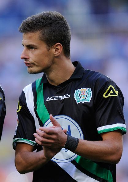 Aleksandar Pantic of Crodoba CF looks on before the La liga match...
