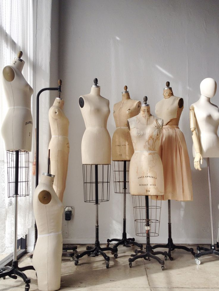 Fashion Design Studio - dressmaker's mannequins; dress forms; fashion designer's workspace // Adored Vintage