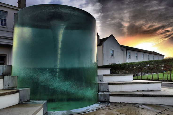 Charybdis water vortex sculpture by William Pye at Seaham Hall Hotel  County Durham, UK