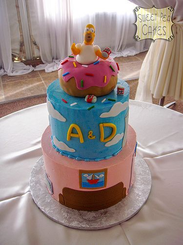The Simpson's grooms cake