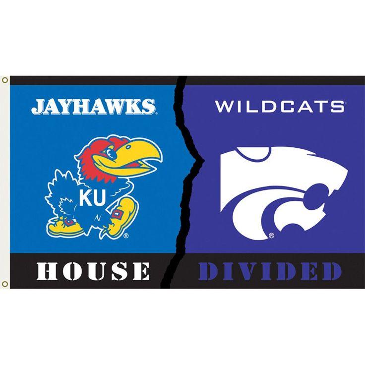 Kansas Jayhawks-Kansas State Wildcats House Divided Flag