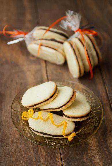 Chocolate and Orange Wafers (Homemade Orange Milano Cookies)