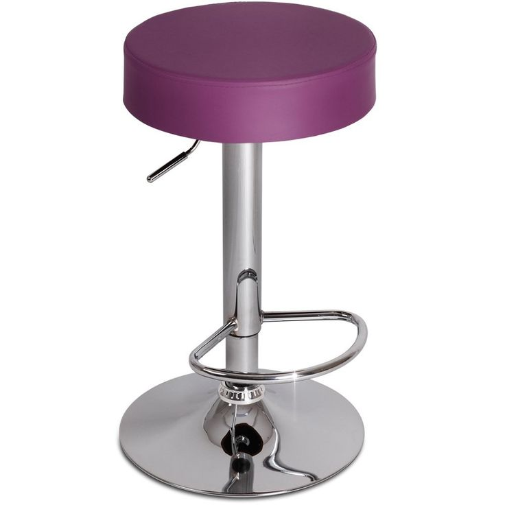 Miadomodo Swivel Bar Stool Purple Round Height