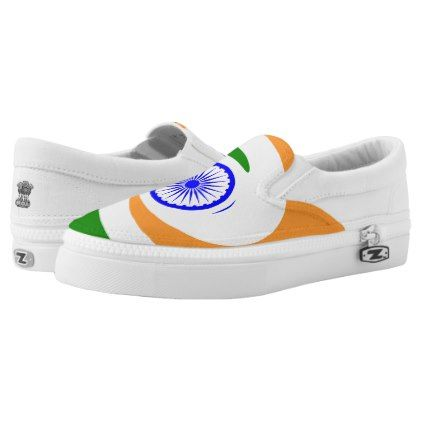 #Indian flag Slip-On sneakers - #womens #shoes #womensshoes #custom #cool