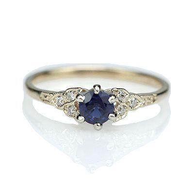 Replica Art Deco Sapphire Engagement ring - 3188-03 anillos de compromiso | alianzas de boda | anillos de compromiso baratos