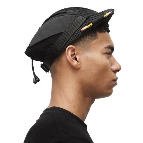 Box peak bully cap (black) by Nasir Mazhar £150 (Excludes VAT)