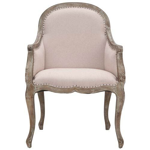 White Arm Chair Pickled Oak Finish Safavieh Home Furniture Arm Chairs Accent Chairs #ArmChair