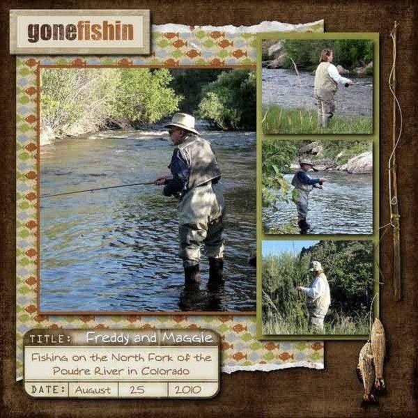 fishing scrapbook layout   Fishing Layout
