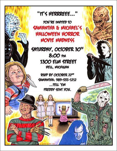 36 best Horror Movie Theme Party images on Pinterest | Horror films ...