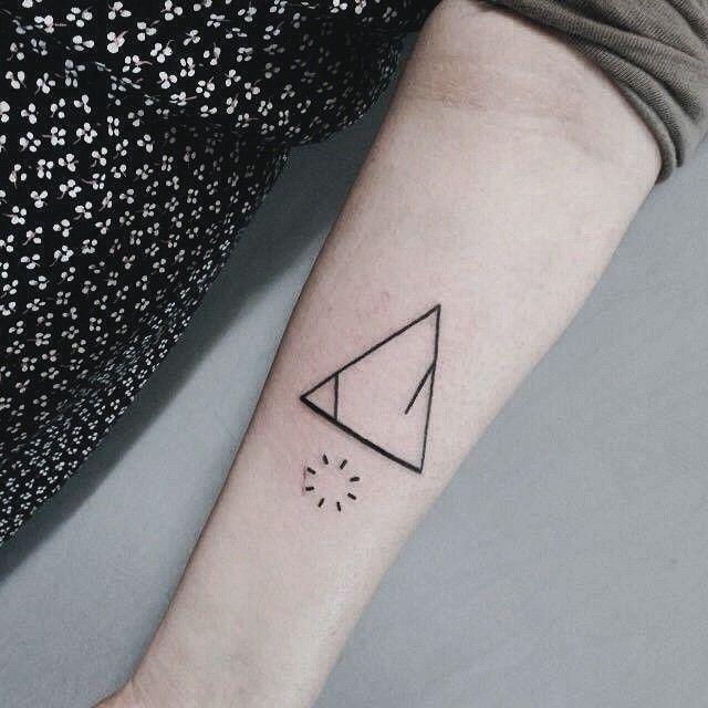 unique Geometric Tattoo - triangle geometric triangle tattoo triangle tattoo meanings triangle......