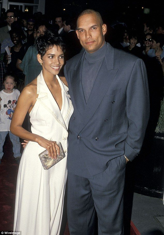 First love: Halle Berry married former baseball player David Justice on January…