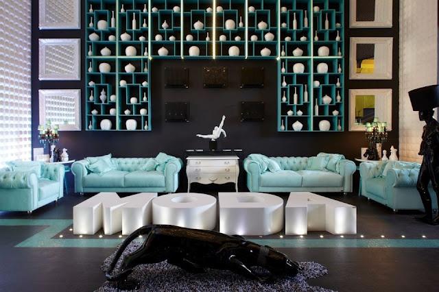Sala turquesa y negro sala turqueza pinterest for Deco sala en blanco y negro