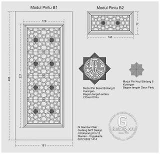 Desain dan Motif Ornamen pintu Masjid terbaru - Gudang Art