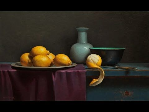 Lemon still life inspired by old master time lapse - YouTube