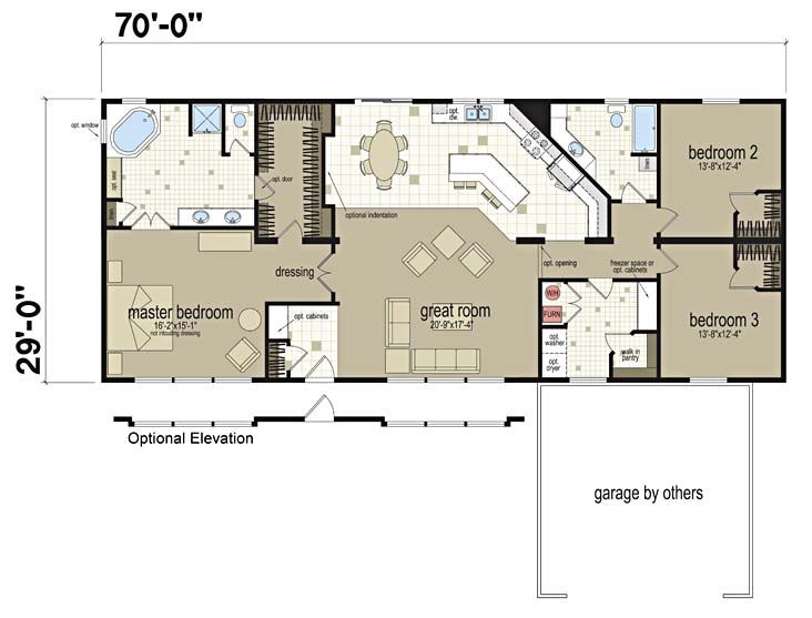 Floor plans alpine 853 manufactured and modular homes for Custom mansion floor plans