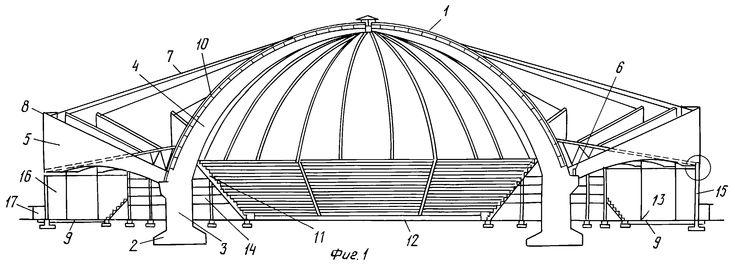 Рисунки патента 2213830 - Арочная конструкция сводчатого сооружения