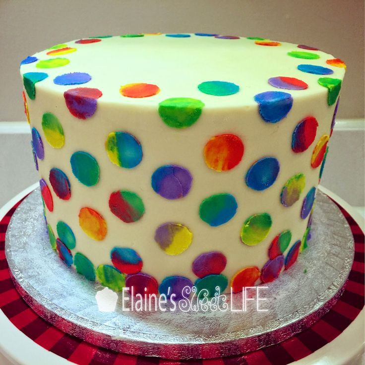 Free Tutorial: Making Eric Carle style spots on a cake with buttercream. Elaine's Sweet Life: The Very Hungry Caterpillar Party {Tutorial}